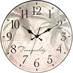 Better Homes and Gardens Palm Plaque Clock