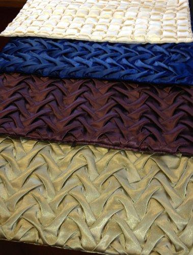 "Satin Decorative Pillowcase Swril Pattern 18""""x18"""" Chocolat"