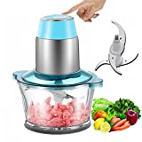 Electric Meat Grinder Sausage Maker Meat Machine Heavy Duty Stainless Steel Mincer, Fast & Slow 2-speed with Grinding Plates Cutting Blade, FDA Approved (Green)