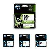 HP 950XL-951 Black/Cyan/Magenta/Yellow High Yield Ink Cartridge Bundle