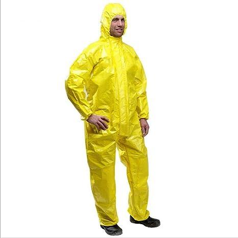 WHNS Traje de protección química peligrosa con Cremallera ...