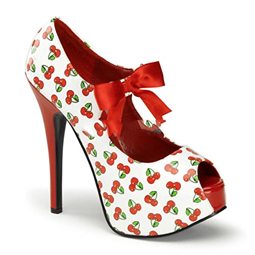 Pin Up Couture - Zapatos de vestir para mujer Weiss/Rot