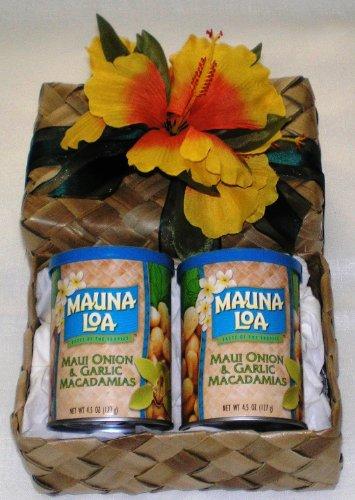 Maui Onion & Garlic Macadamia Nuts Gift Basket #2