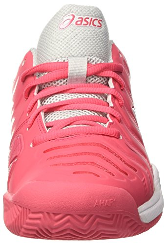 Asics Women's Gel-Challenger 11 Clay Tennis Shoes, Scuro Blu/Rosa Red (Rouge Red/White/Glacier Grey)