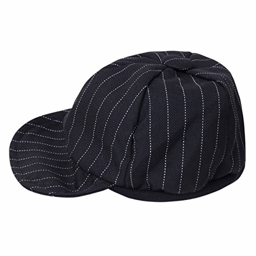 iiniim-baby-boys-gentlemen-striped-duck-bill-hat-cap-summer-sun-hat-baseball-cap-black-0-6-months