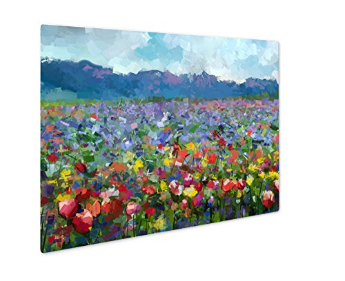 Ashley Giclee Metal Panel Print, Oil Painting Colorful Spring Summer Rural Landscape, Wall Art Decor, Floating Frame, Ready to Hang 16x20, AG6259051 by Ashley Giclee