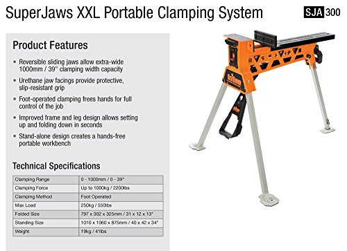 Triton Sja300 Superjaws Portable Clamping System Xx Large
