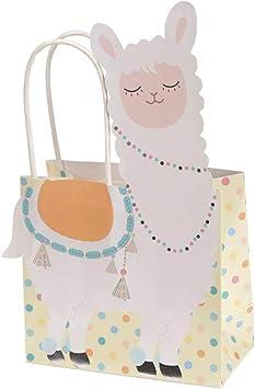 Neviti Llama Love-Gift Bag-5 Pack Bolsas para regalo, color pastel ...