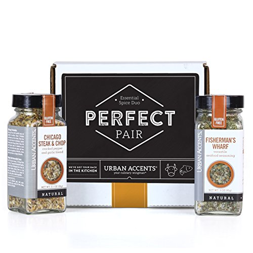Urban Accents PERFECT PAIR, Essential Gourmet Spice Gift Set (Set of 2) - Two All Natural Versatile Spice Blends Perfect for any Meal- Great Gift for Weddings, Housewarmings or Any ()
