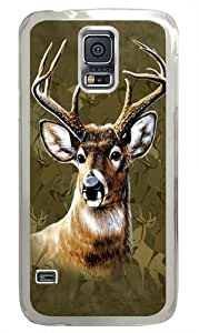 Camo Deer PC Case Cover for Samsung S5 and Samsung Galaxy S5 Transparent