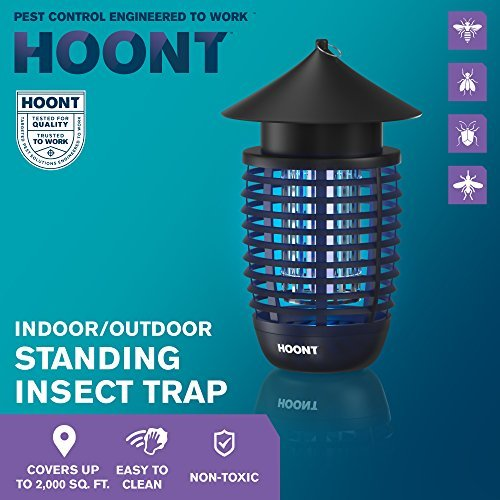 Hoont Powerful Electric Indoor Bug Zapper and Fly Zapper Catcher Killer Trap – Covers 600 Sq. Ft. / Fly Killer, Insect Killer, Mosquito Killer – For Residential, Commercial and Industrial [UPGRADED]