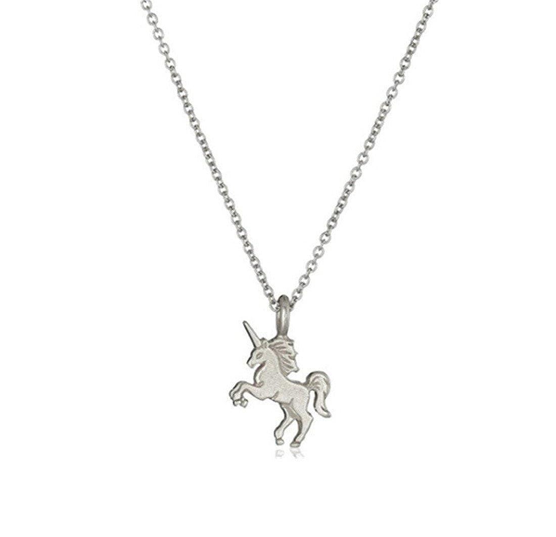 VWH Halskette für Mädchen / Damen, Einhorn-Anhänger Einhorn-Anhänger 1013