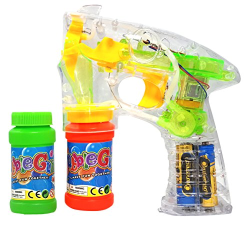 Bubble Gun Transparent Shooter with LED Lights