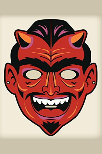Devil Satan Vintage Mask Decoration or Halloween Costume Cutout Poster 12x18 inch -