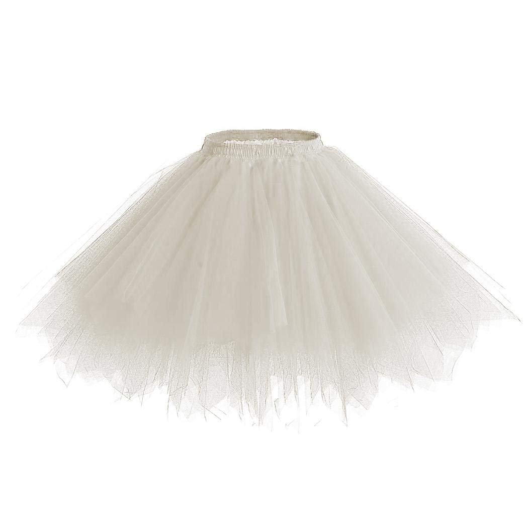 Zippem Women Formal Multi-Layered Solid Mesh Decoration Loose Petticoat Fascinators