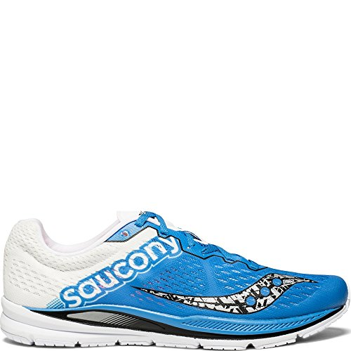 Saucony Men's Fastwitch 8 Cross Country Running Shoe, Blue/White, 7 Medium US