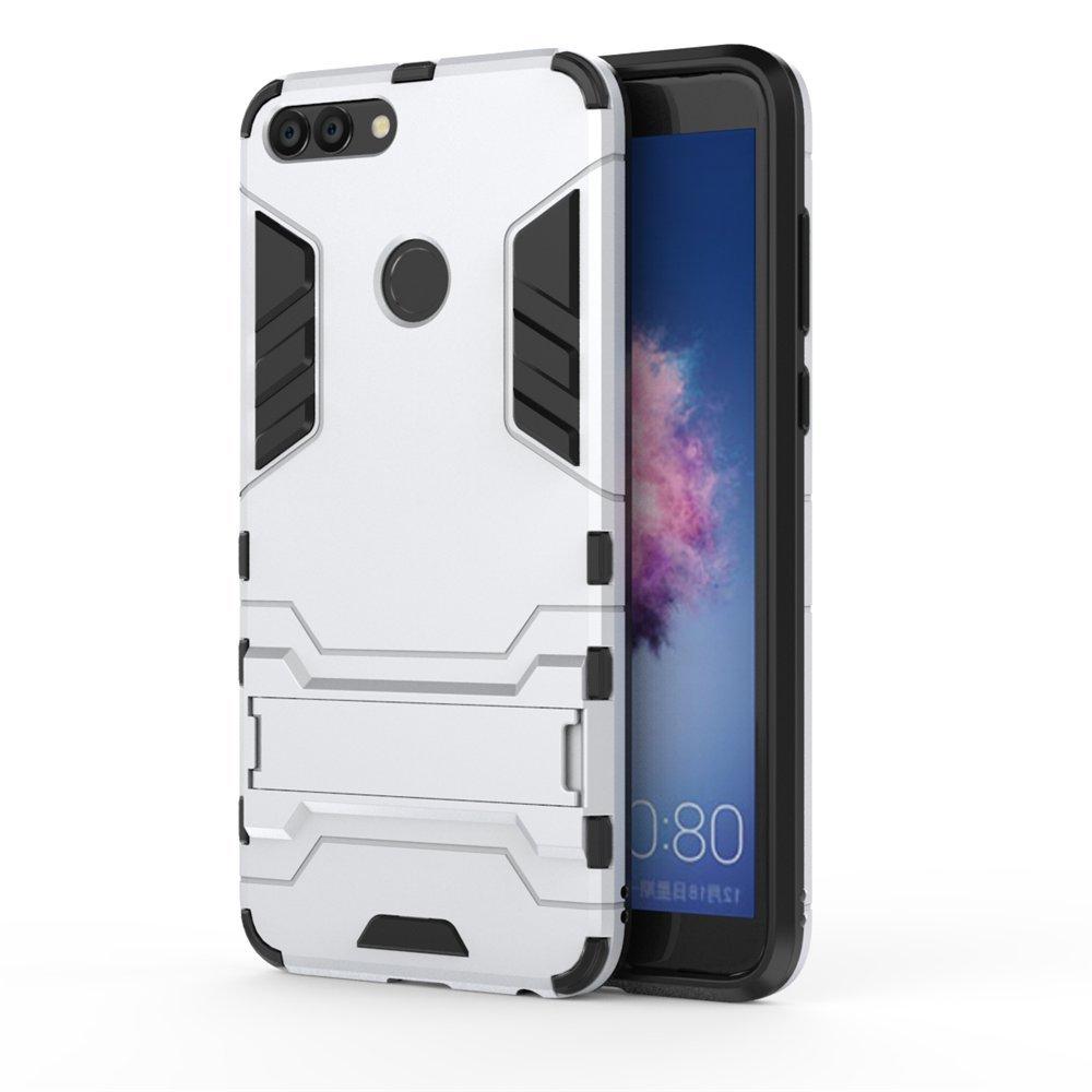 All Black Huawei P20 Funda MHHQ 2in1 Armadura Combinaci/ón A Prueba de Choques Heavy Duty Escudo C/áscara Dura PC Suave TPU Silicona Rubber Case Cover con soporte para Huawei P20