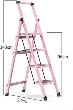 Escaleras Escalera plegable de acero resistente de 3/4 pasos, Taburete con peldaños, Escalera de tijera, Escalera telescópica, Escalera de extensión, Escalera multiusos con tapete antideslizante: Amazon.es: Bricolaje y herramientas