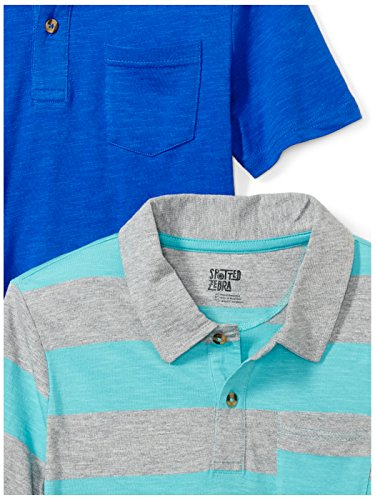 234ea02f3 Amazon Brand - Spotted Zebra Boys  2-Pack Slub Jersey Short-Sleeve Polo