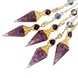 SUNYIK Handmade Chip Stones Orgone Pendulum for