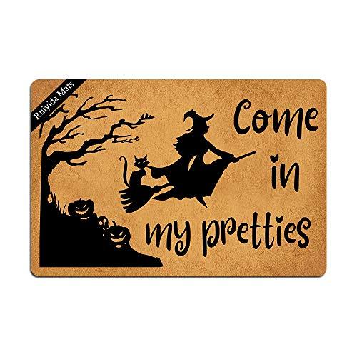 Ruiyida Halloween Come in My Pretties Doormat Custom