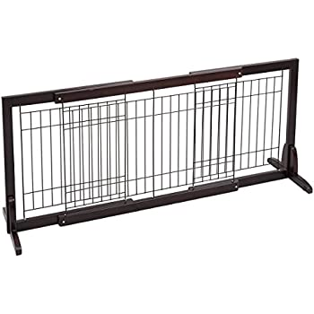 Amazon Com Jaxpety Pet Fence Gate Free Standing