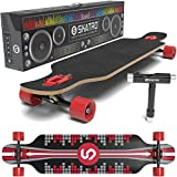 SKATRO Drop Through Longboard Skateboard Freeride – Includes T-tool