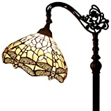 "Tiffany Style Reading Floor Lamp Dragonfly Table Desk Lighting H64"" E26 Stone"