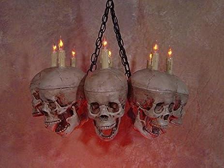 Amazon.com: Life-Size Skull Chandelier with Eight Skulls: Home ...