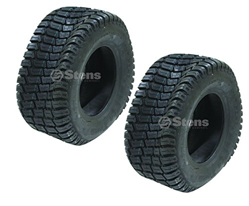 Stens #160-208 Set of 2 Cst Turf Tires 16x7.5-8 Pro Tech Tread Tubeless 4 Ply - 4 Turf Tread 2 Ply