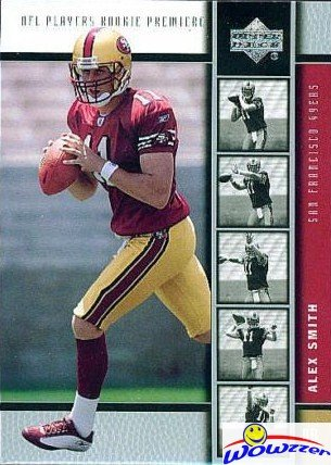 Alex Smith 2005 Upper Deck #2 ROOKIE Card in MINT Condition! Washington Redskins Superstar Quarterback!  Shipped in Ultra Pro Top Loader to Protect it!