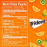 Trident Tropical Twist Sugar Free Gum, 12 Packs