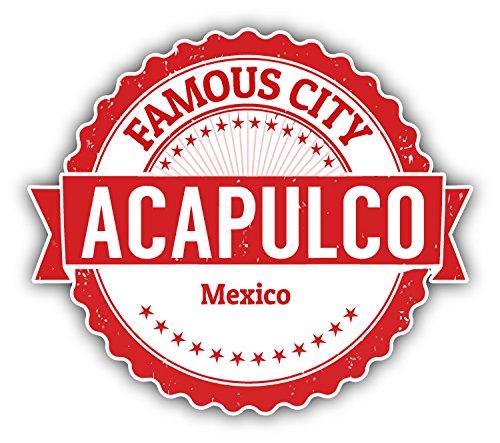 Acapulco City Mexico Grunge Travel Stamp Car Bumper Sticker Decal 5'' x 4'' (Furniture Acapulco)