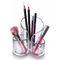 Oxid7® Organizer für Kosmetik Acryl | Aufbewahrungsbox für Make Up und Schmuck | Schmuckkästchen | Schubladenbox Schminke - 14x13,8x11,8cm - 3 Fächer