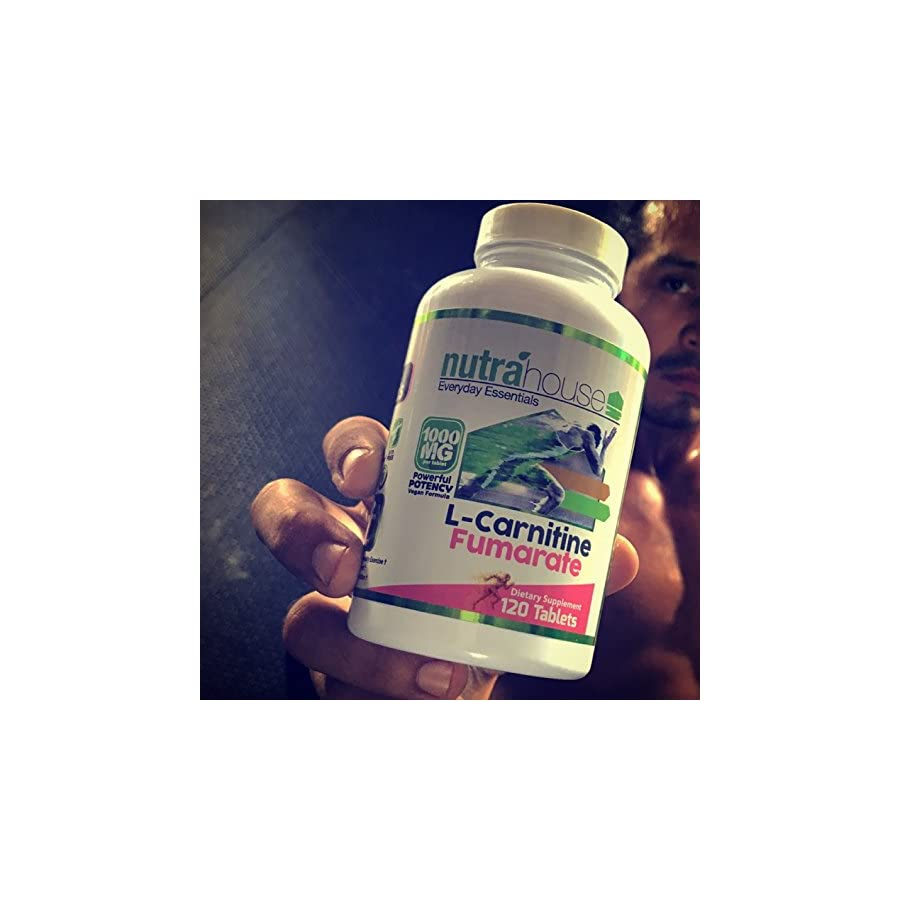 L Carnitine Fumarate 1000 mg Tablets. L Carnitine Helps Converting Stored Fatty Acids into ATP Metabolic Energy. 120 Tablets.