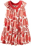 Tea Collection Girls 7-16 Surf Floral Twirl Mini Dress, Milk, 10 image