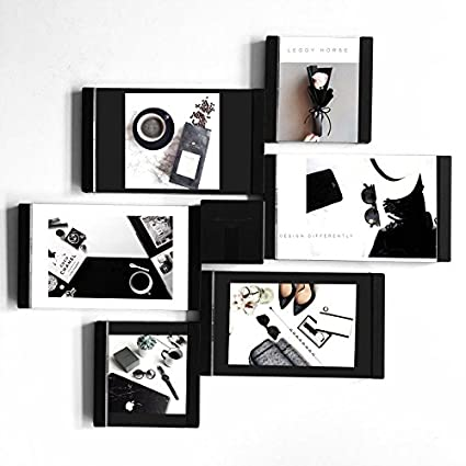 leggy caballo negro y blanco combinación de bricolaje Marcos de ...