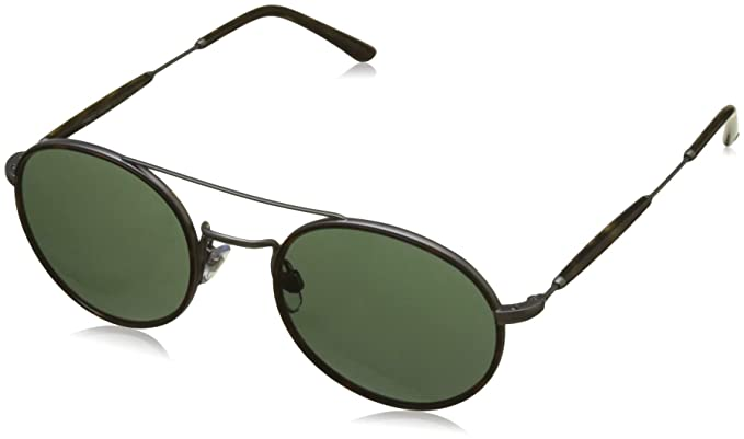 51b4edb01d53 Image Unavailable. Image not available for. Colour  Giorgio Armani Men s  0AR6056J Matte Gunmetal Green Sunglasses