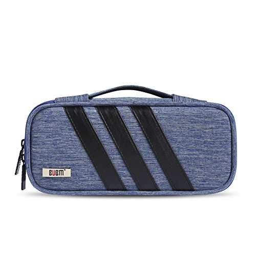 BUBM Carrying Bag for AC Adapter, Travel Organizer for Laptop Charger, Pouch Cover Case for Power Cord and Other Accessories, Blue by BUBM (Image #8)