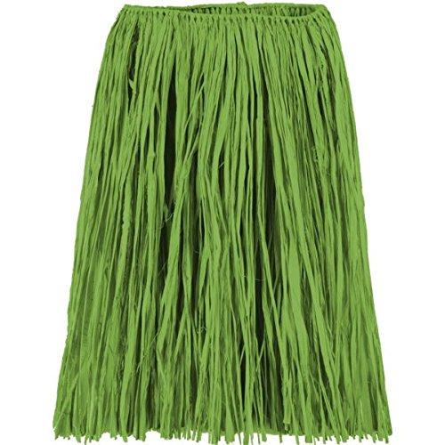 Amscan Hawaiian Summer Luau Adult Raffia Hula Skirt Wearables Party Supplies (3 Piece), Green