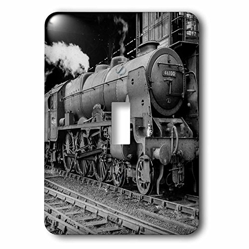 (Scenes from the Past Magic Lantern Slide - Magic Lantern Vintage LMS Royal Scot Steam Locomotive Train Station - Light Switch Covers - single toggle switch (lsp_240525_1))