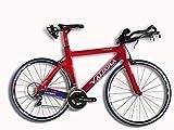 Valdora PHX-2 Carbon Fiber Triathlon Bikes - Large - Red, White, & Blue - Ultegra