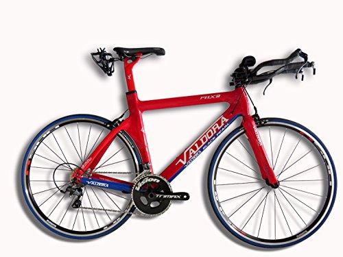- Valdora PHX-2 Carbon Fiber Triathlon Bikes - Large - Red, White, & Blue - Ultegra