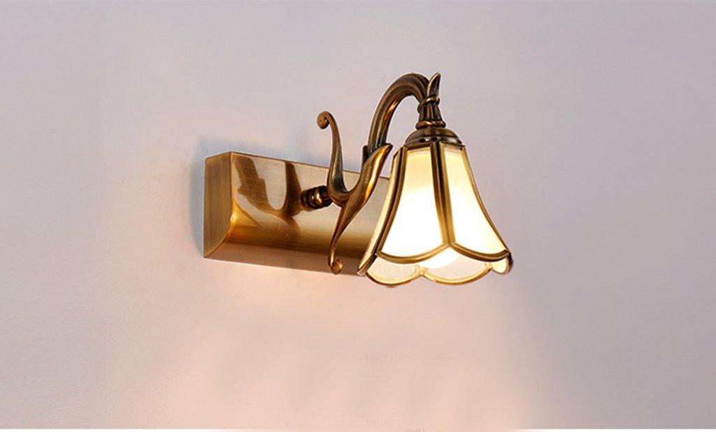 JIE KE Ehemalige Europäische LED Spiegelleuchten Badezimmer Spiegel Schrank Licht Badezimmer American minimalistisch Make-up Schminklampen Wand (Energieeffizienzklasse A +) Kreative Wandleuchte
