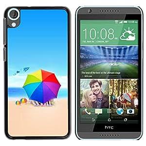 Be Good Phone Accessory // Dura Cáscara cubierta Protectora Caso Carcasa Funda de Protección para HTC Desire 820 // Beach Colors