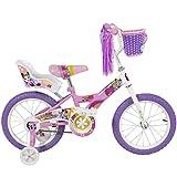 "BCP 16"" Girls Flower Princess Bike W/ Training Wheels & Basket Kids Bicycles"