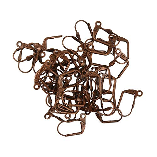 Hot Sale Wholesale 50pcs Shell Earring Wire Coil Jewelry Making Finding DIY Gift Necklace Jewelry Crafting Key Chain Bracelet Pendants Accessories Best| Color - Copper ()