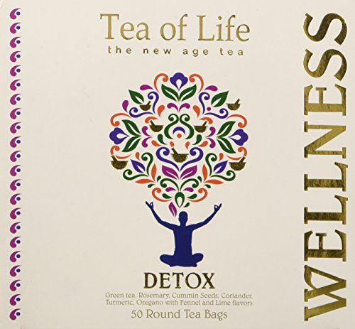 Tea of Life Detox, 50 Round Tea Bags 2.6oz (Green Honey Life Tea Tea Of)