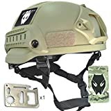 ATAIRSOFT PJ Type Tactical Airsoft Paintball MICH 2002 Helmet With Side Rail & NVG Mount DE