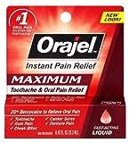 3 pack of Orajel Instant Pain Relief Fast Acting Liquid 0.45 fl oz